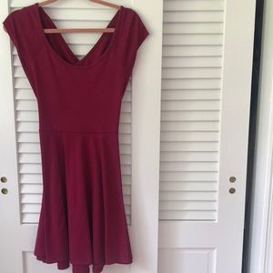 Open back fit and flare dress